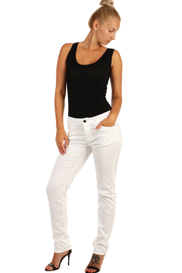 Straight women's white jeans plus size