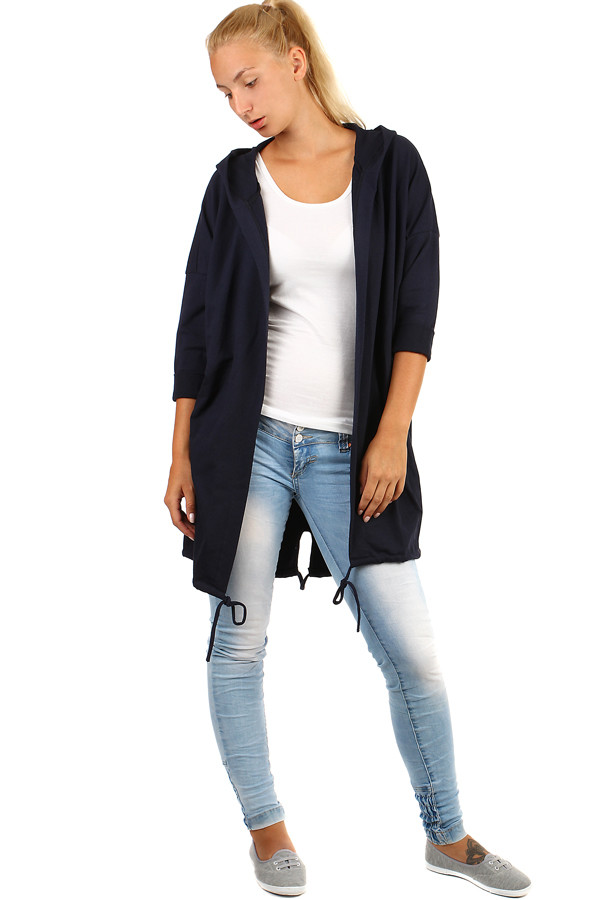 Women's hooded cardigan
