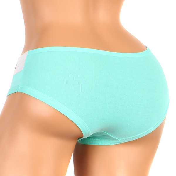 Women's cotton two-color panties with print