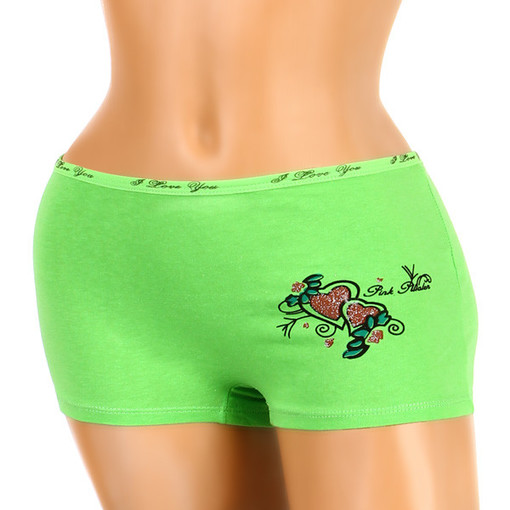 Women's cotton boxers with heart