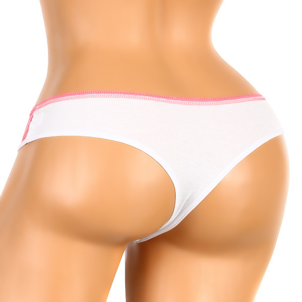 Women's brazilian cotton panties with lace