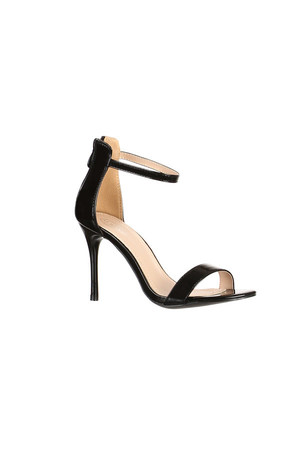 Heeled patent sandals