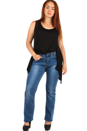 Straight women's jeans. Up to size 44 - for plump. Material: 98% cotton, 2% elastan