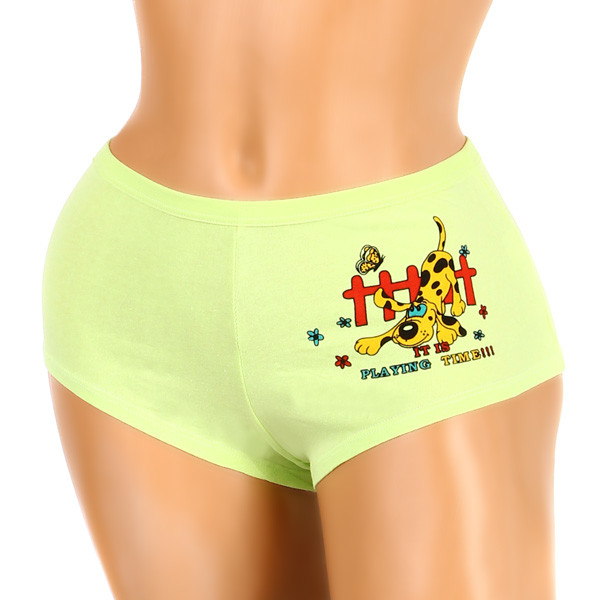 Womens cotton boxers printed with a dog