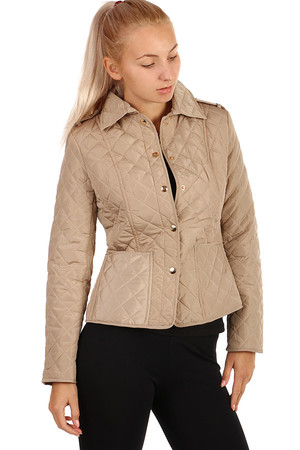 Women's Lightweight Quilted Jacket. Turning on patents. Suitable for spring / autumn. Design without hood. Material: 100%