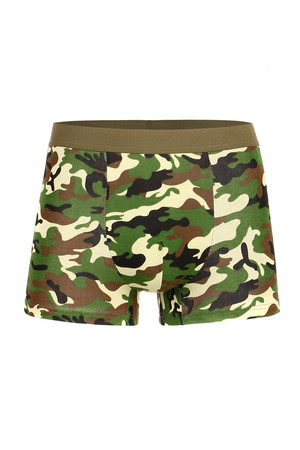 Cotton boxers with camouflage print. Material: 95% cotton. 5% elastane.