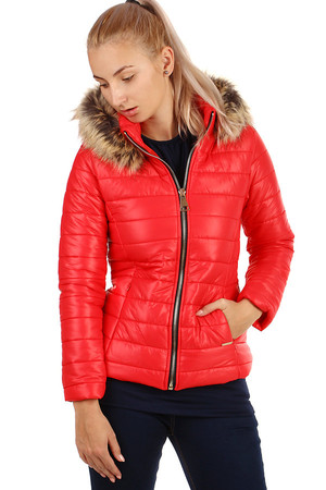 Trendy women's quilted jacket suitable for autumn / winter. The hood is removable. Zip fastening. Use in the city / leisure.