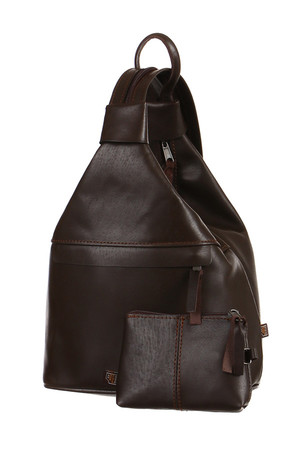 Handmade backpack made of genuine leather. Three ways to wear - like a shoulder bag, as a bag on your back, or as a backpack