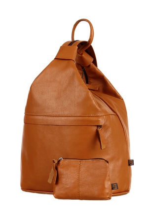 Handmade women's backpack made of genuine leather. Three ways to wear - like a shoulder bag, as a bag on your back, or as a