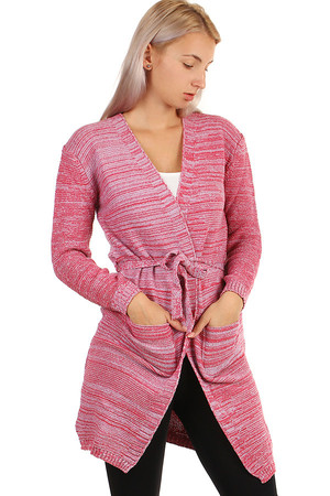 Long striped cardigan without fastening. Material: 95% polyester, 5% elastane Import: Turkey
