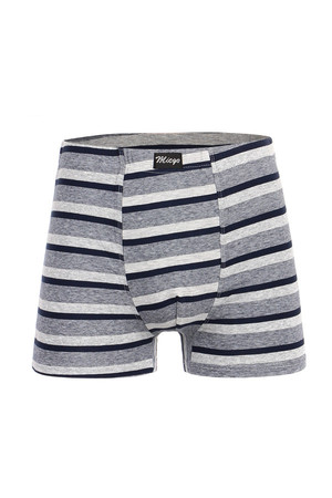 Cotton boxers with stripes. Up to 6XL. Material: 95% cotton, 5% elastane.