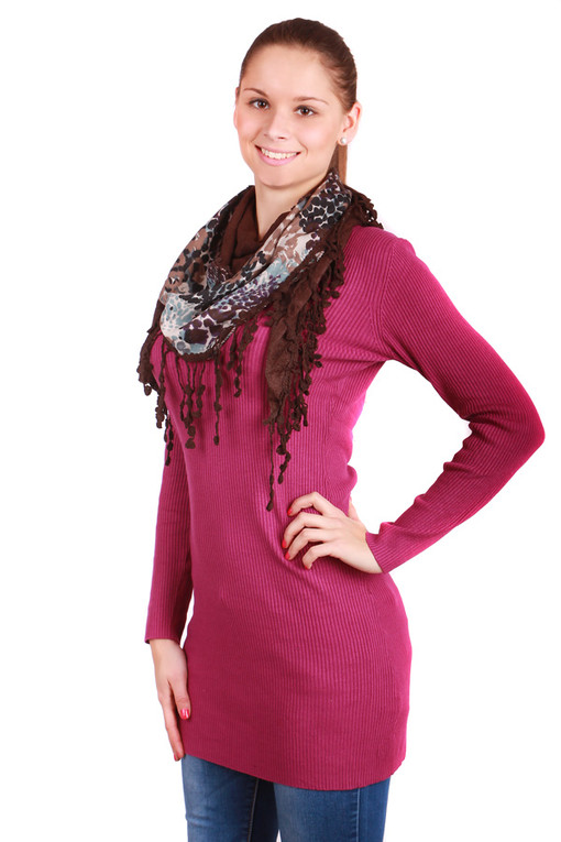 Women's color scarf