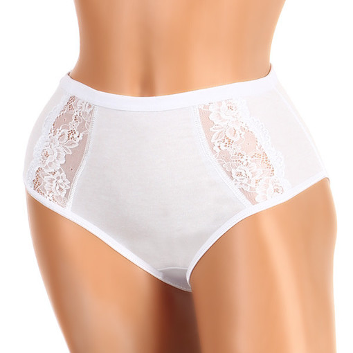 Women's cotton panties with lace