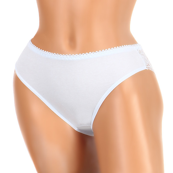 Women's panties with lace on the back