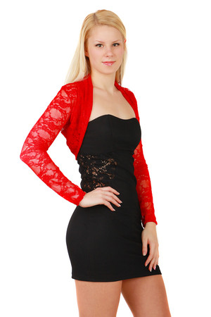 Women's unique long sleeve lace bolero. Import: Italy Material: 95% polyester, 5% elastane