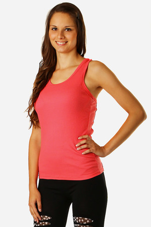 Women's plain top with lace on the back. Material: 65% cotton, 35% polyester