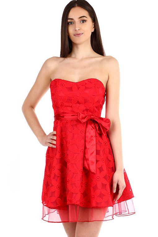 Women's corset dress with ribbon