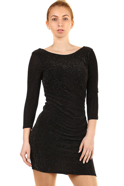 Short shimmering dress 3/4 sleeves