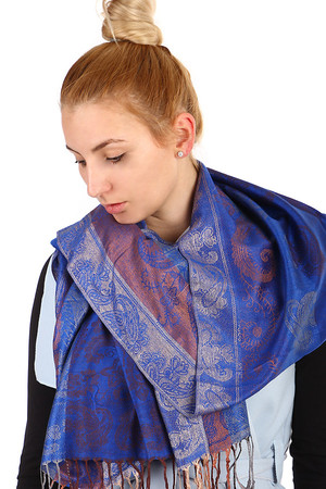 Long scarf - Pashmina. Great choice of colors and many ways to tie. Material: 90% wool, 10% viscose