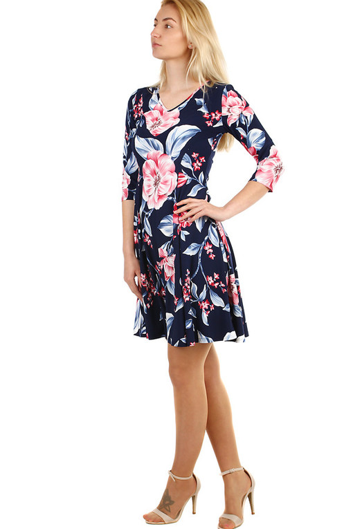Women's summer dress with floral print oversized