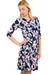 Women's Flowered Dress with 3/4 Sleeves