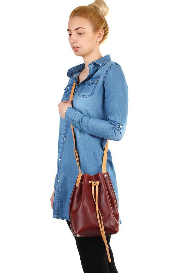 Women's long denim blouse and oversized