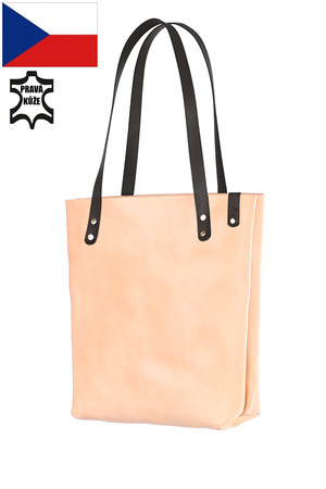 Spacious ladies handbag - genuine leather shopper. Handmade. made of high quality cowhide - long life practical editing - can