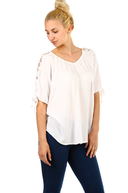 Women's oversize top with sleeves