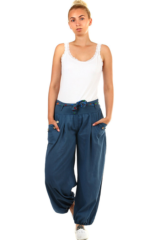 One color ladies harem pants