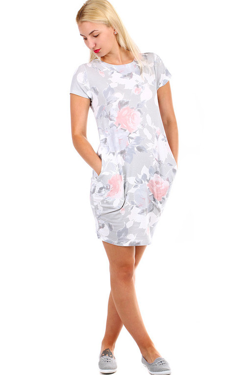Short women's dress with print