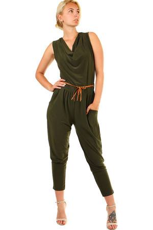 Ladies long single color overalls with a loose neckline and a thin strap. Material: 95% polyester, 5% elastane. Import: Italy