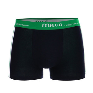 Men's two-color cotton boxers with stripe on the side. Material: 95% cotton, 5% elastane.