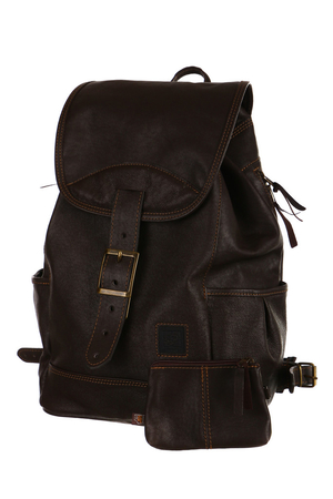 Universal, hand-made backpack made of genuine leather. Made of natural materials, eco-friendly product. The materials used