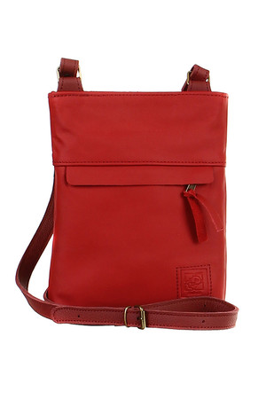Women's small crossbody bucket made of genuine leather. zippered zip pocket on front and back length adjustable strap