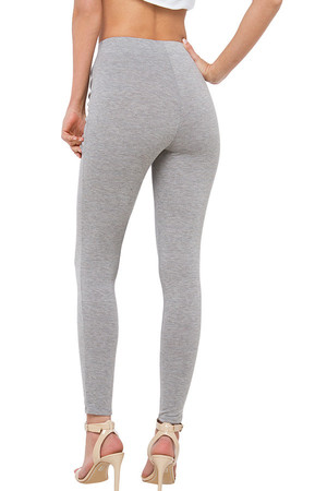 Women's Long Leggings with Elastic Waist. Material: 95% cotton, 5% elastane Import: Italy