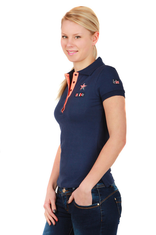 Women's cotton shirt collar and short sleeves