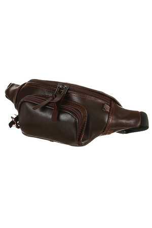 Handmade classic genuine leather bum bag. 3 zipped pockets adjustable strap pinning the waistband with a buckle main pocket