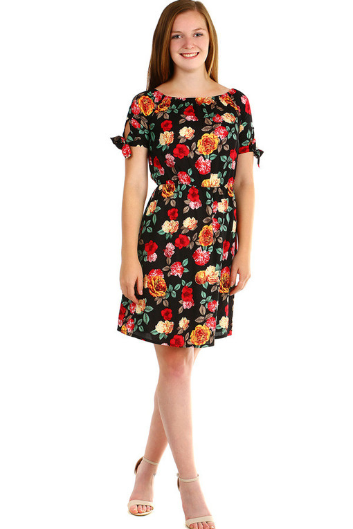 Women's summer dress with floral pattern