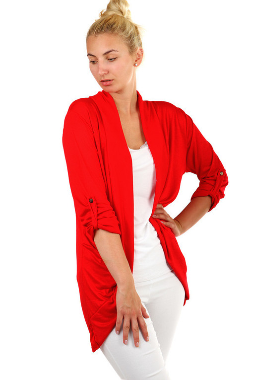 Women's cotton cardigan with pockets