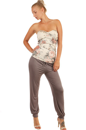 Comfortable women's turkish pants with wide waist and rubber trousers. Smooth and soft. Drawstring at waist. Import: Italy