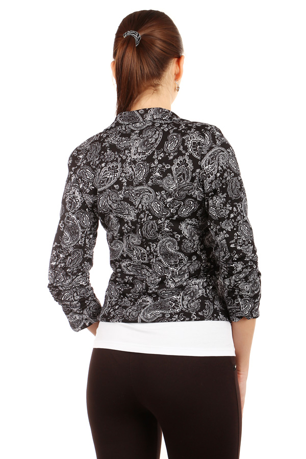 Women's patterned jacket three-quarter sleeve