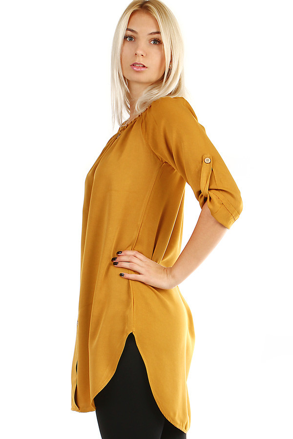 Women's Free Shirt Dress with 3/4 Sleeve