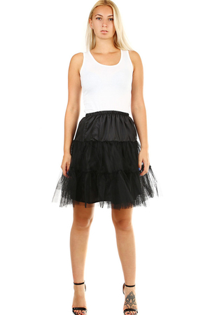 Fluffy tulle petticoat in various colors to increase dress or skirt. Rubber waist. This will make your classic skirt or dress