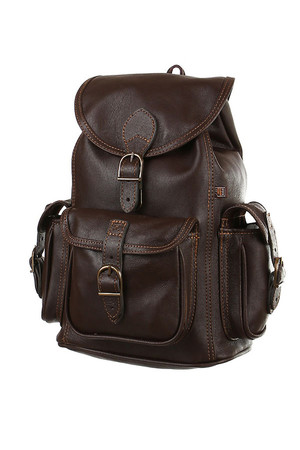 Handmade backpack made from genuine leather. the back is reinforced hanging loop load capacity 3 kg inside zip pocket