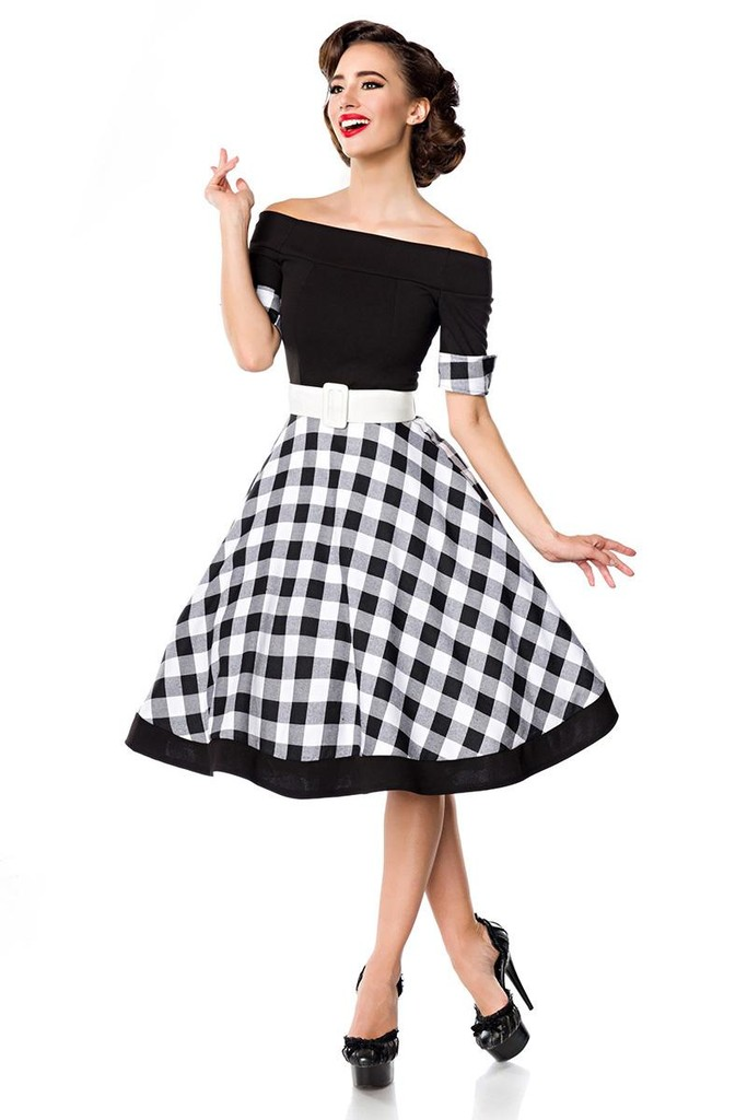 Retro dress plaid skirt