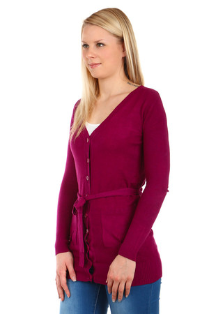 Beautiful simple sweater with buttons fastening. Material: 60% acrylic, 30% wool, 10% elastane.