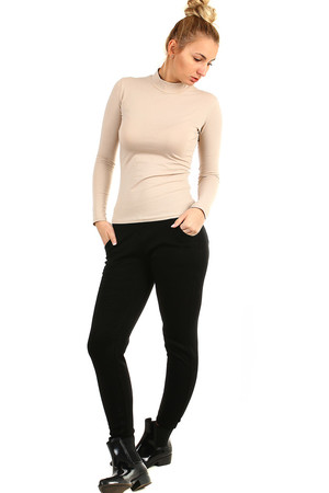 Women's warm black leggings elastic and comfortable trouser look a higher passport suitable for winter inside the plush