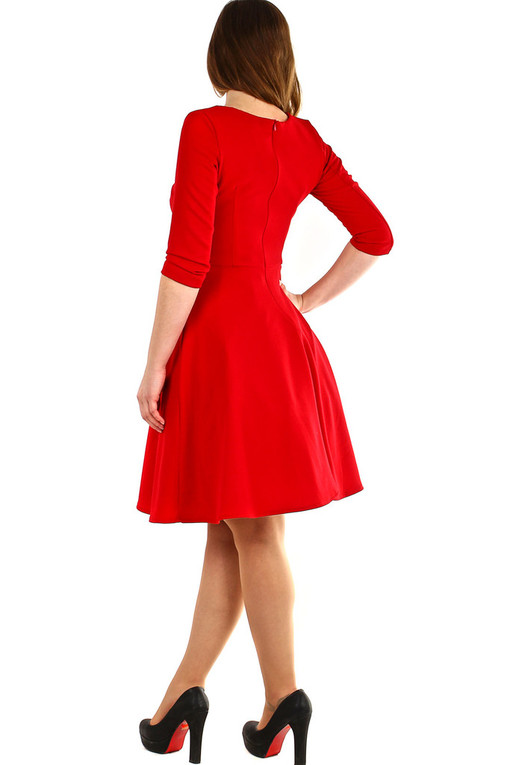 Red A-style Dress