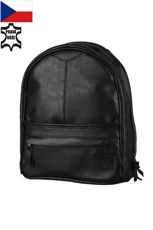 Elegant leather ladies backpack made in the Czech Republic. Dimensions: height 35 cm, width 30 cm, depth 10 cm Material: pork