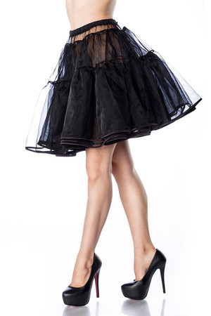 Layered women's slip tulle under retro dress or wheel skirt with soft elastic waist layered with fine tulle richly fluffy